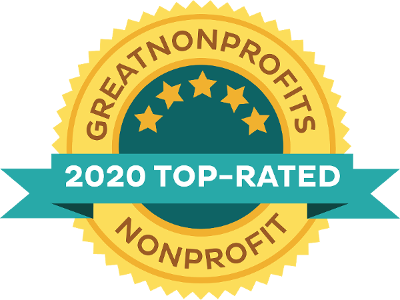 Animal Guardian Network Great Non Profits 2020 Top-Rated Award Badge